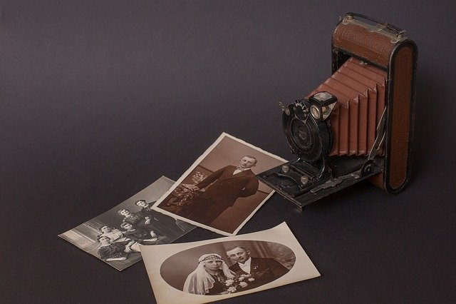 Vintage camera and pictures